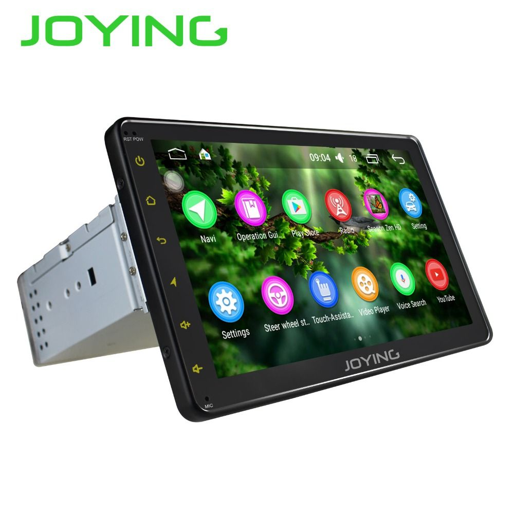 JOYING latest 1din android 6.0 car autoradio stereo gps navigation system HD multimedia player support DAB+ DVR OBD2 Rear Camera