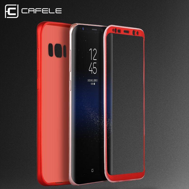 Cafele TPU + PC противоударный чехол для Samsung Galaxy S8/S8 плюс Роскошный 360 градусов Полный Защитная крышка для Samsung S8 случае