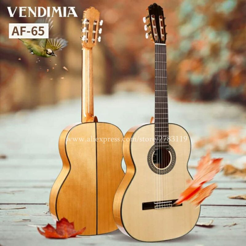 2018 New arrival Flagship Handmade 39 inch Acoustic Flamenco guitar With Solid Spruce/Aguadze Body+STRINGS,Classical guitar AF65