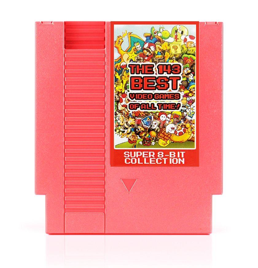 143 в 1 лучшее видео игры все время! Contra/земные/Megaman 123456/Turtles 1234 72 Шпильки 8 бит карточная игра