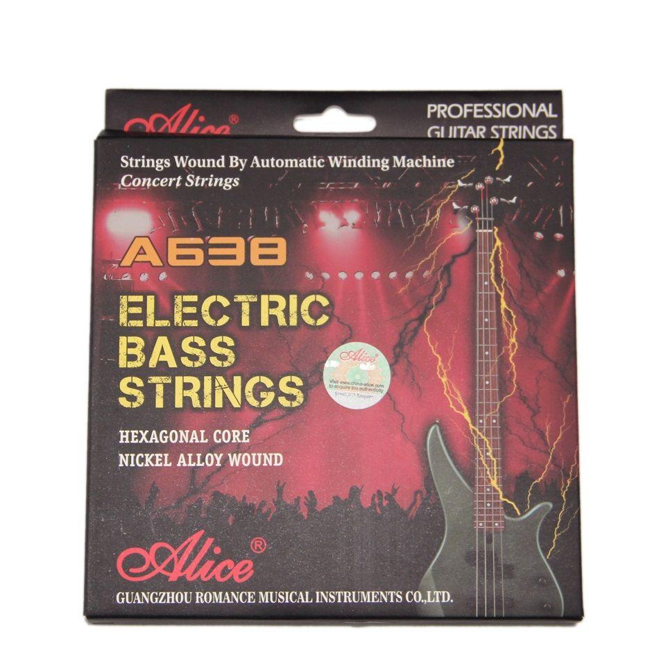 Cordes de basse électrique ALICE 045-105 noyau Hexagonal en alliage de nickel enroulé jeu de fils de musique 4 pièces/ensemble cordes de guitare basse