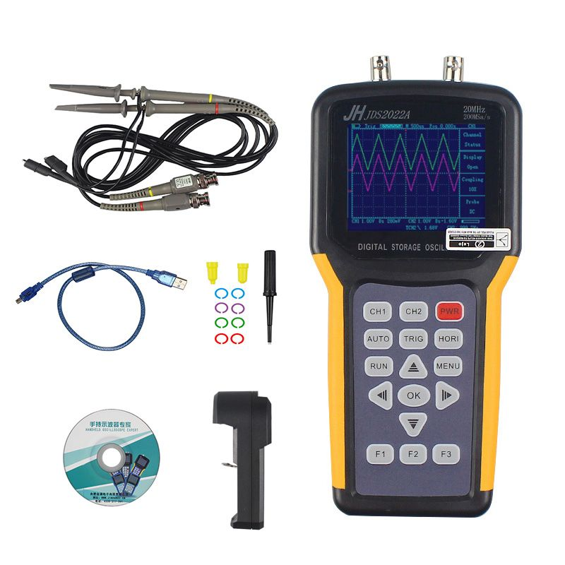Jinhan JDS2022A Double-channel handheld Digital oscilloscope 20MHz Bandwidth 200MSa/s Sample Rate,automotive multimeter