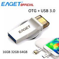 EAGET USB Флешка 32 ГБ USB 3,0 флеш-накопитель 16 ГБ Флешка 64 ГБ Micro USB OTG U диск USB накопитель для samsung телефонов ПК