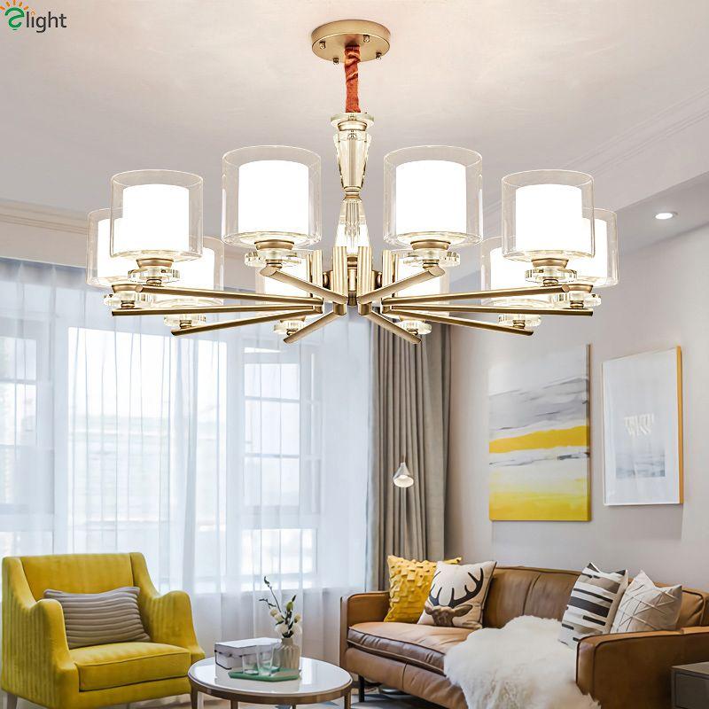 Moderne Glanz Kristall Führte Kronleuchter Beleuchtung Wohnzimmer Gold Metall Led Anhänger Kronleuchter Lichter Schlafzimmer Hängen Lampe Leuchte