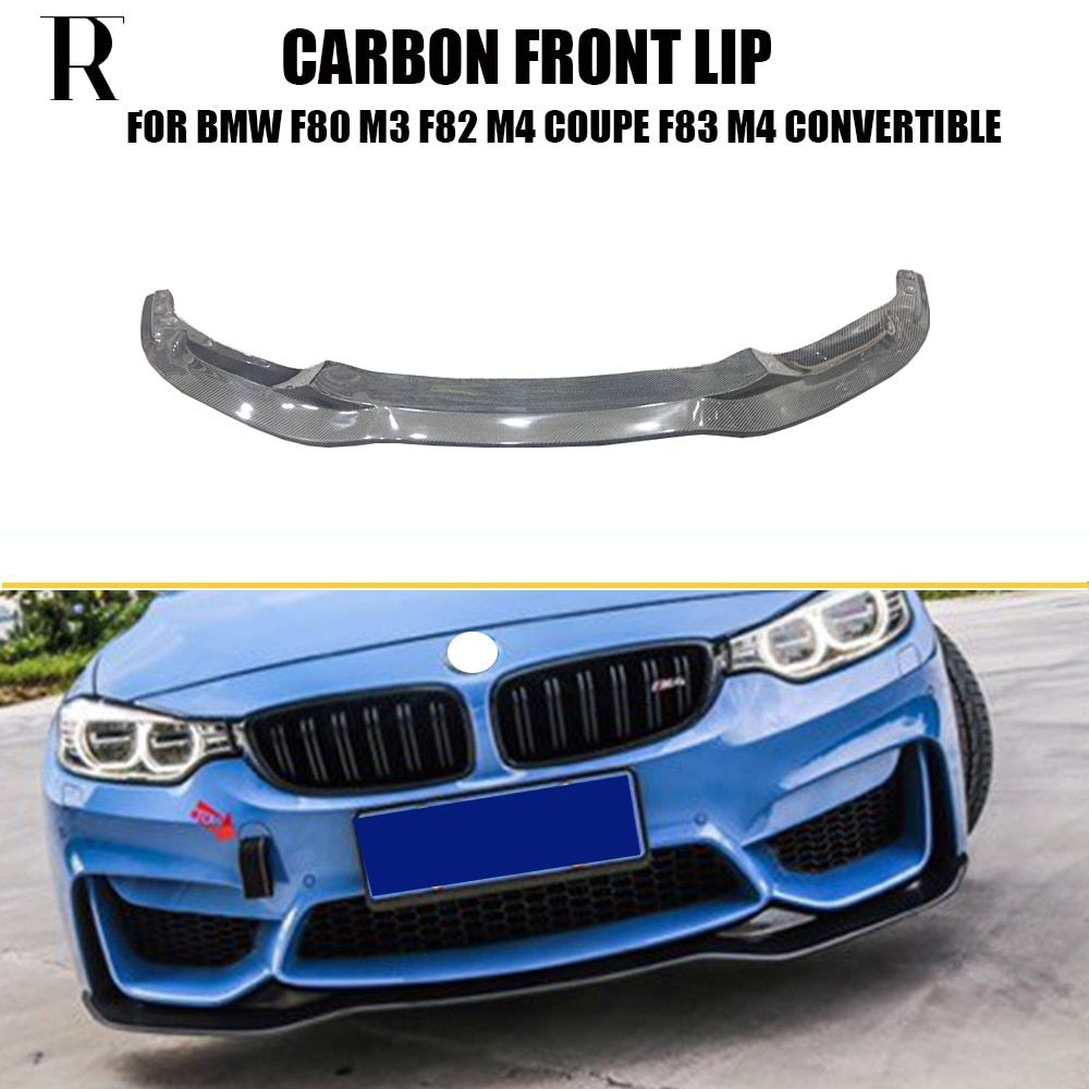 M3 M4 Carbon Fiber PSM Style Front Bumper Lip Chin Spoiler for BMW F80 M3 Sedan F82 M4 Coupe F83 M4 Convertible 2012 - 2018