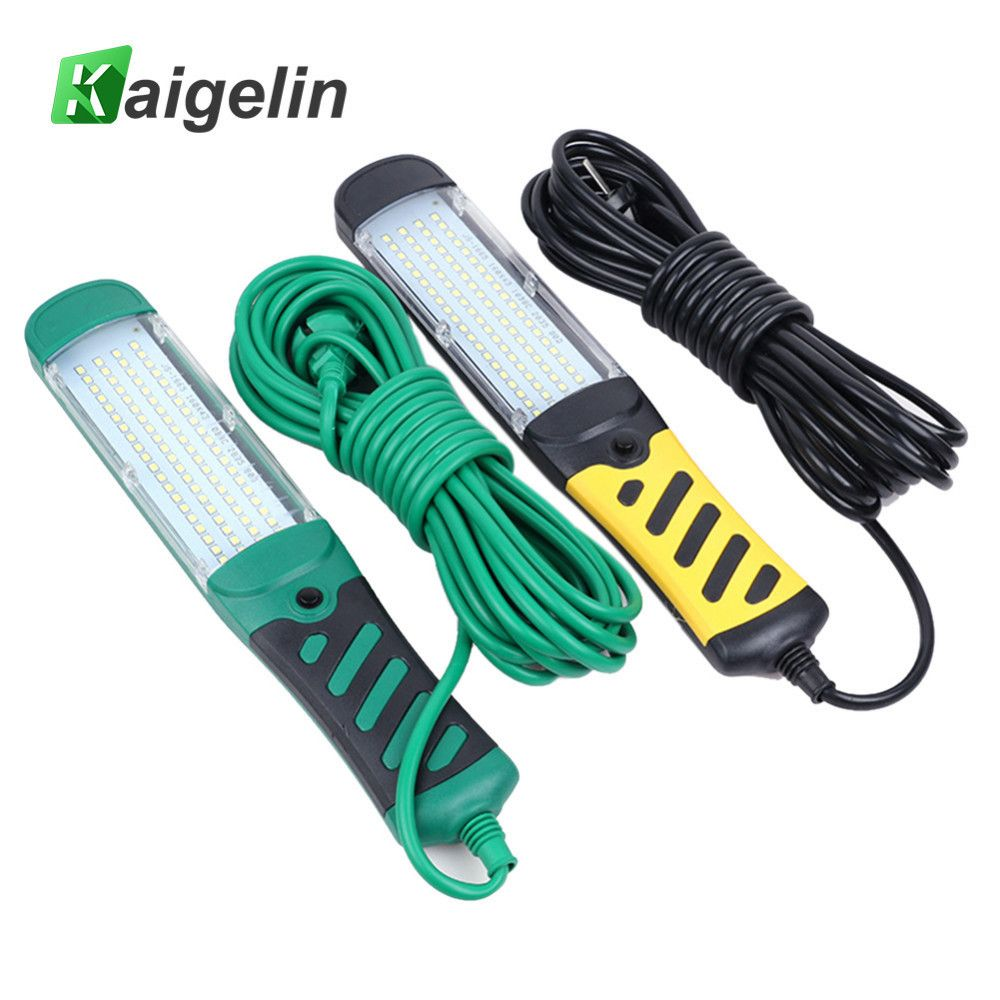 Kaigelin Portable 80 LED Beads Flashlight Magnetic LED Emergency Safety Work Light Car <font><b>Inspection</b></font> Repair Handheld Work Lamp