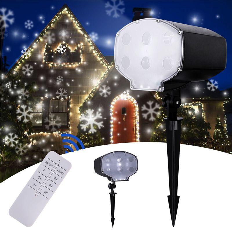 Led Snowfall Projector Outdoor Garden Laser Projector Lamp Snow Scene Light Waterproof IP65 Christmas New Year Snowflake light