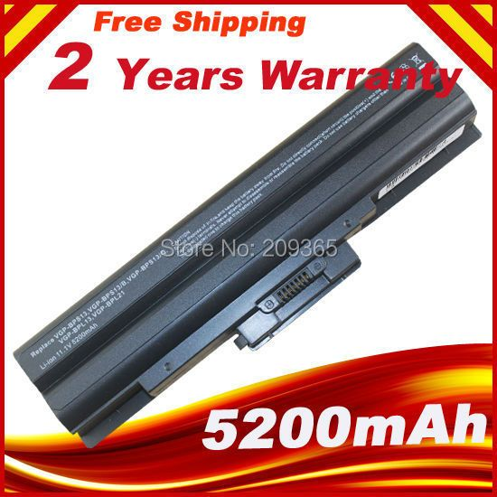 <font><b>Laptop</b></font> Battery For SONY Vaio VGN-AW VGN-CS VGN-FW VGN-NS VGN-NW BPS13/B VGP BPS13/Q VGP-BPS13B/B VGP-BPS13A/B VGP-BPS13/B