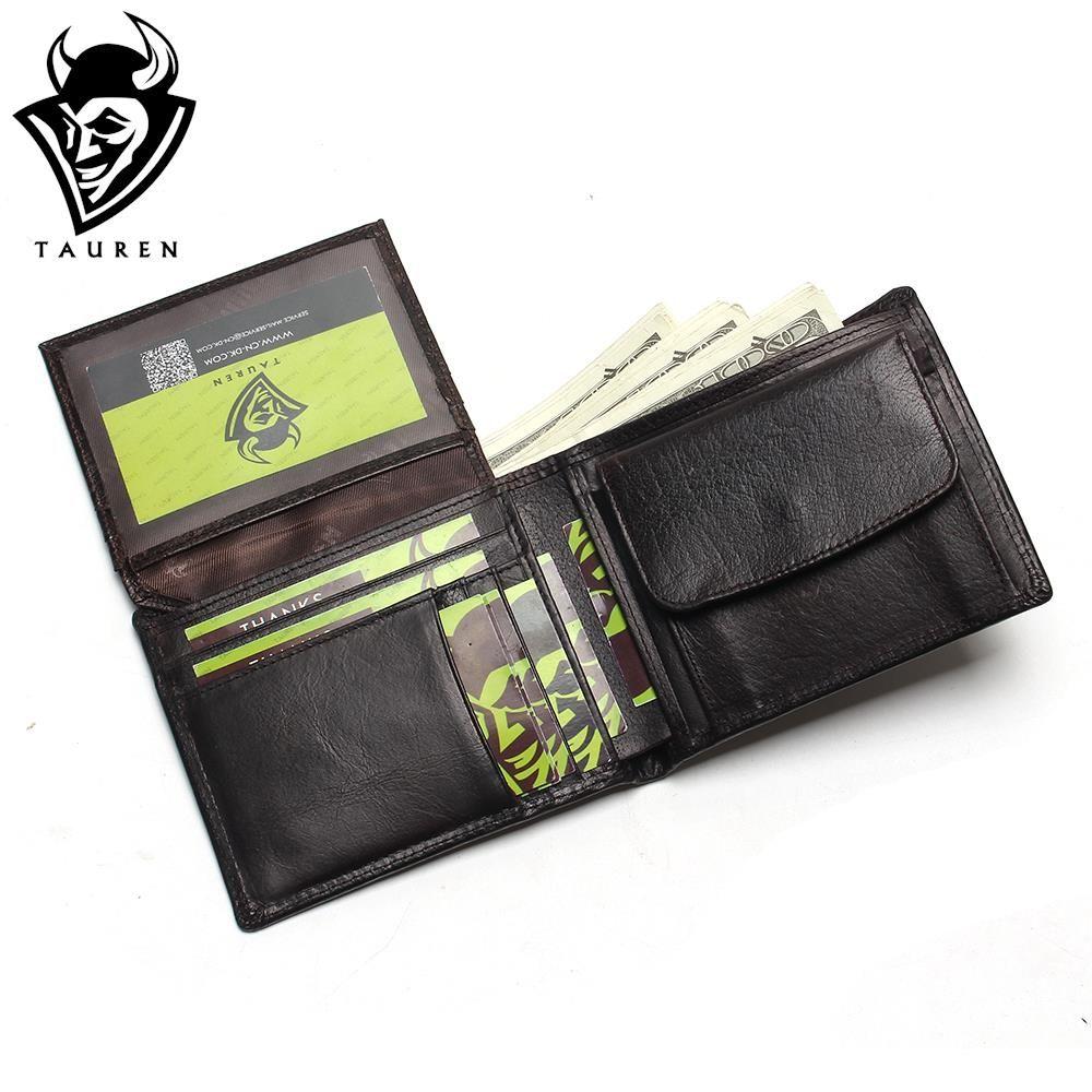Small Vintage Wallet <font><b>Brand</b></font> High Quality Vintage Designer 100% Genuine Crazy Horse Cowhide Leather Men Short Coin Purse Wallet