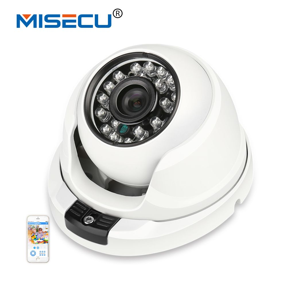MISECU <font><b>2.8mm</b></font> wide Metal IP Camera 1080P 960P 720P Vandalproof Onvif P2P Motion Detection RTSP 48V POE Surveillance CCTV Outdoor