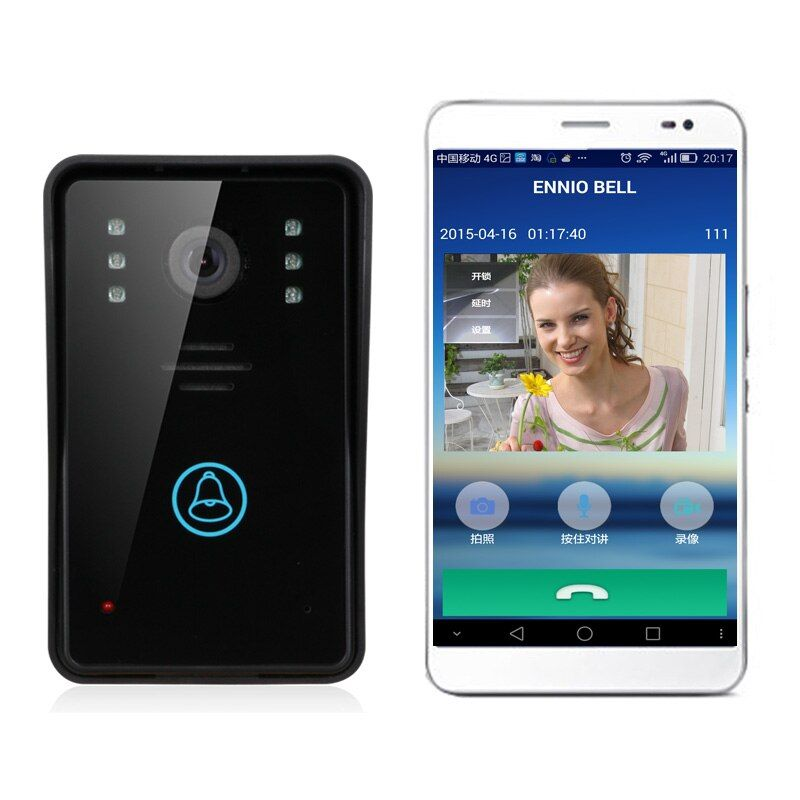 Video Door Phone WiFi Doorbell Remote Video Camera Rainproof Video Intercom Camera Remote Network Home Building