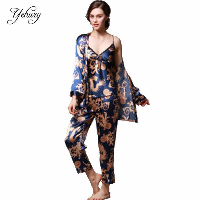 Весна Лето Халат Халат Женщины Пижамы Пижамы Наборы Ночная Рубашка Главная Casul Пара Одежды пижамы женские домашний халат пижамы