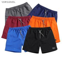 Varsanol hombres Shorts Nuevo 2018 poliéster Shorts para hombres verano respirable sólido elástico cintura Casual pantalones cortos hombre macho 11 colores