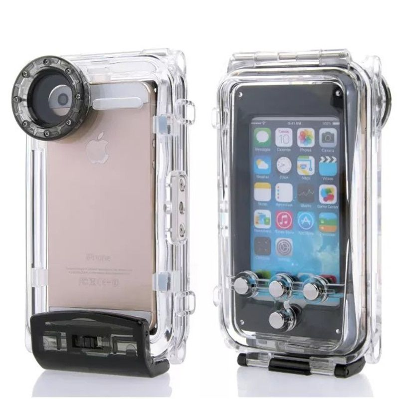 High Quality 40M Diving Waterproof Case for iPhone 6 Plus 5.5inch Plastic Waterproof Phone Bag Cover for Swimming Fishing Sports