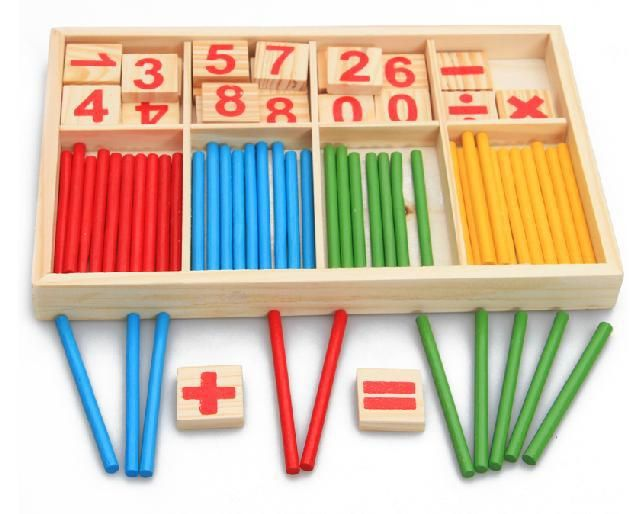 Baby Toys Counting <font><b>Sticks</b></font> Education Wooden Toys Building Intelligence Blocks Montessori Mathematical Wooden Box Chil Gift
