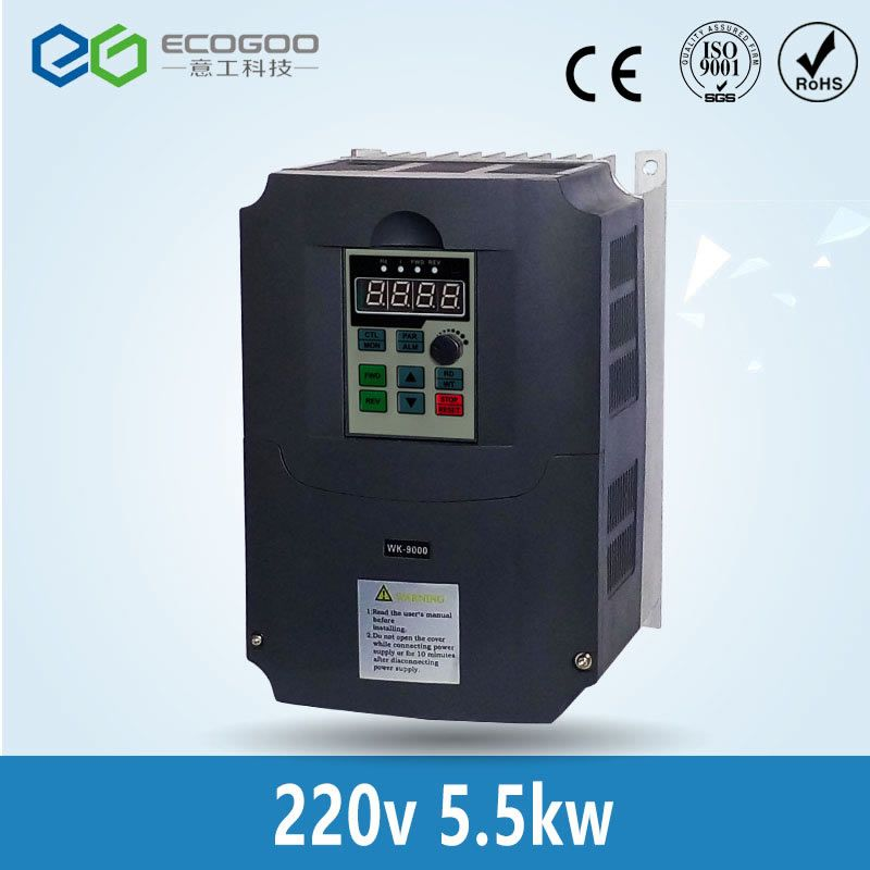 5.5kw 220v AC Frequency Inverter & Converter Output 3 Phase 650HZ ac motor water pump controller /ac drives /frequency converter