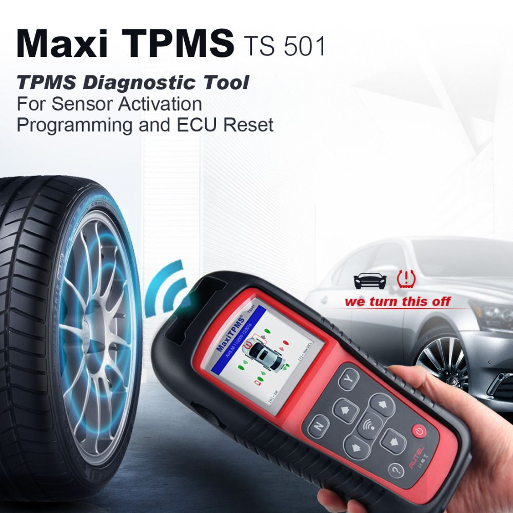 Autel MaxiTPMS TS501 TPMS Diagnostic and Service TOOL Autel TS501 activate TPMS sensors Reads/clears codes of TPMS system