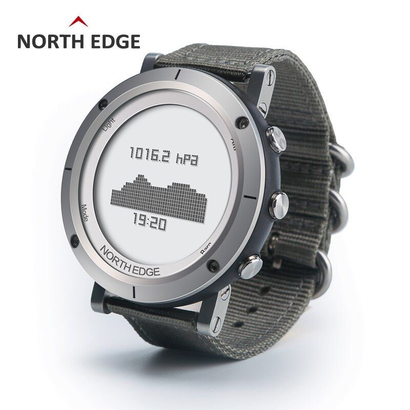 Men Sports Watch Compass Altimeter Barometer Thermometer Heart Rate Monitor Pedometer Watches Digital Running Climbing Watch