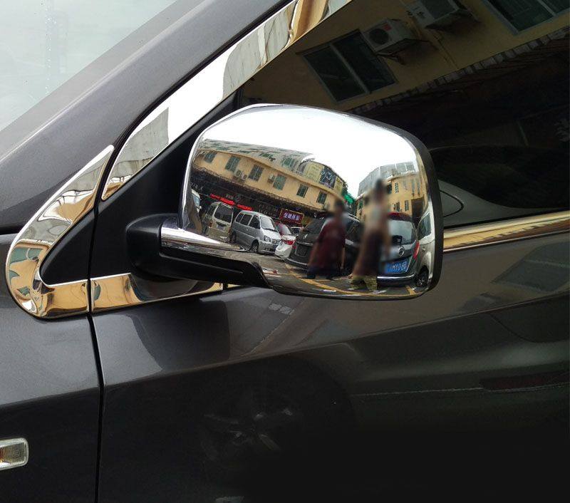 2Pc for Dodge Journey 2009-2016 Rearview mirror cover Reverse mirror Bright frame sticker