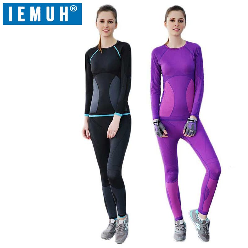 IEMUH New Winter Thermal Underwear Sets Women Brand Anti-microbial Stretch Women's Thermo Underwear Female Warm Long Johns