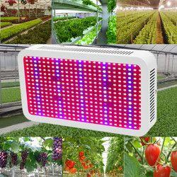 400 LED crece luces de espectro completo 400 W lámpara de interior de la planta para las plantas Vegs el sistema de Hydroponics/floración envío libre