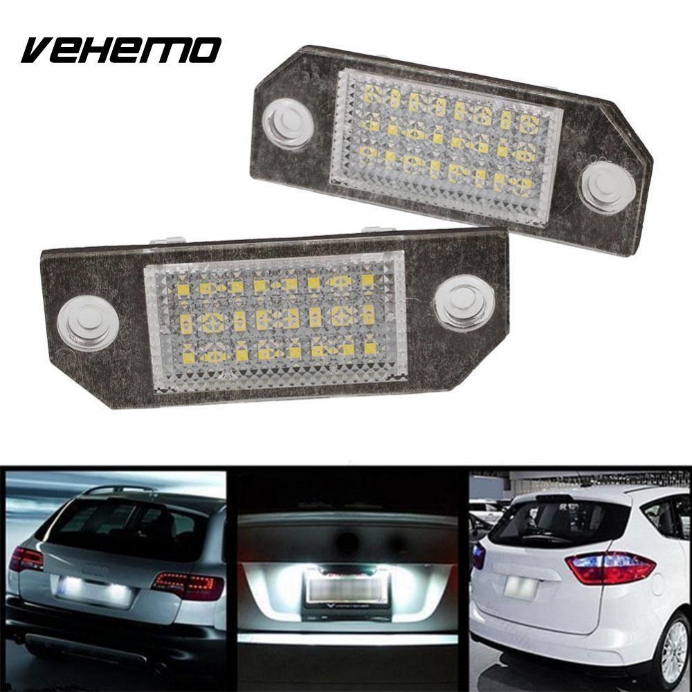 Vehemo 2 шт. 12 В белый 24 LED Номер Номерные знаки для мотоциклов свет лампы для Ford Focus C-MAX MK2 автомобиля источник света