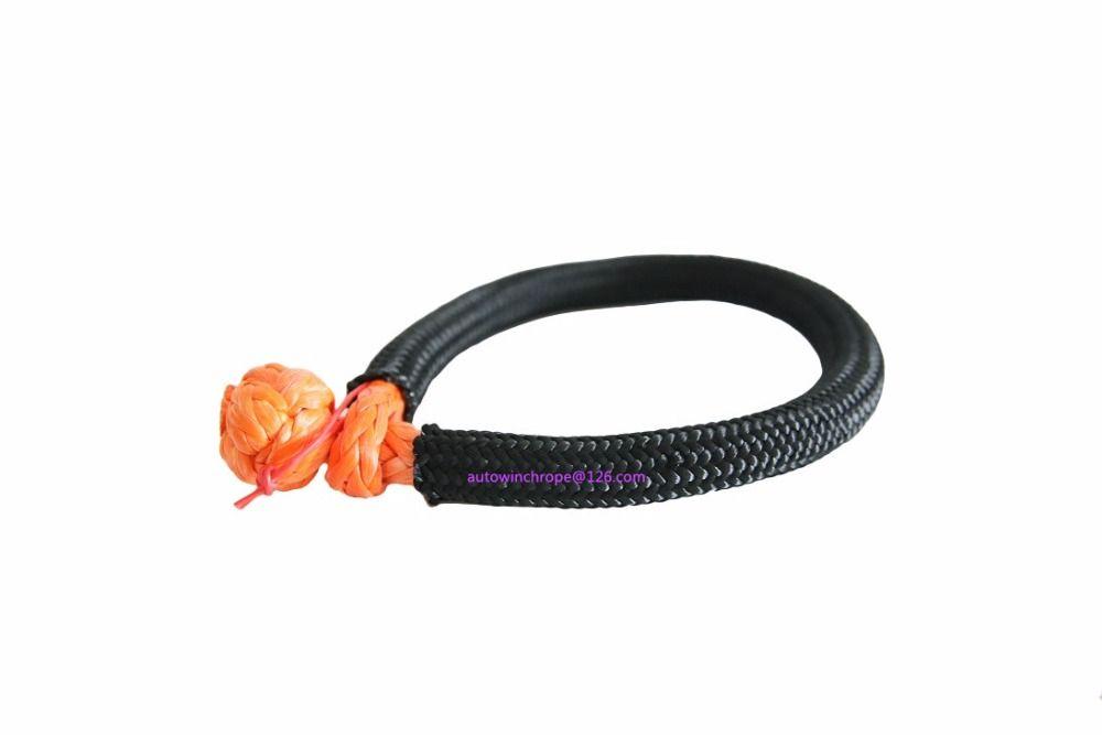 10mm*150mm Orange Soft Shackles,Synthetic Shackle, Rope Shackle,Synthetic Winch Cable Rope,UHMWPE Shackles