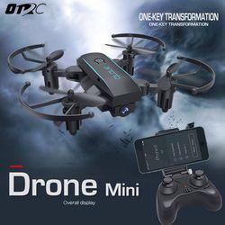 Drone dengan Kamera HD 2MP OTRC 1601 Dilipat Ketinggian Terus Wide Angle WIFI FPV RC Quadcopter Drone Helikopter VS H47