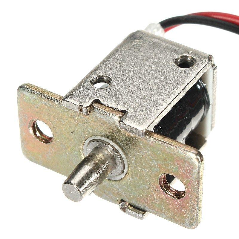 NEUE Safurance DC 12 V 0.5A Mini Elektrische Riegelschloss Push-Pull Zylindrischen Gehäuseschloss 5mm Hub Zugang Control Home Security