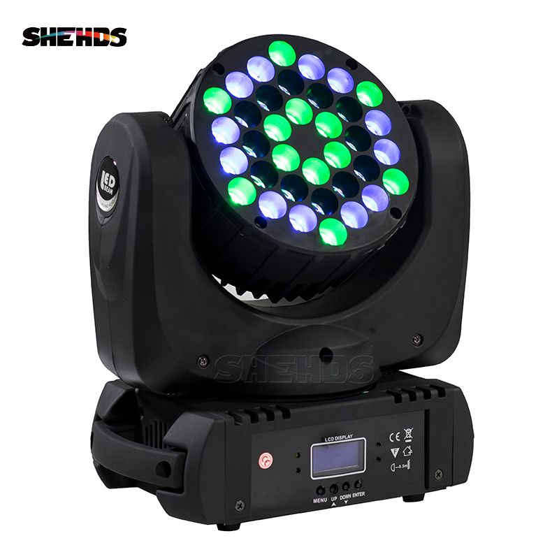 Fast Shipping LED Beam 36x3W Moving Head Light 36x3W RGBW With DMX 9/16 Channels For DJ Disco Party Nightclub And Dance Floor