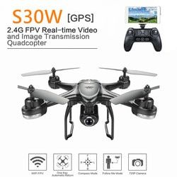 Sjrc S30W 2.4GHz Double GPS WIFI FPV Drone dengan 720P Sudut Lebar HD Kamera RC Drone Dinamis Mengikuti aku Quadcopter Vs MJX B3 B6