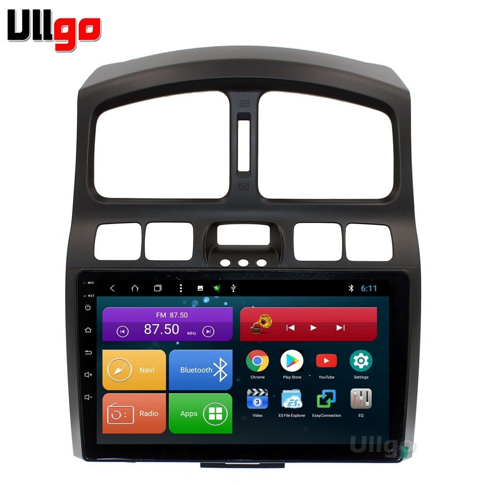4G + 64G Octa Core 9 ''Android 8.1 Auto DVD GPS für Hyundai Santa Fe 2001-2006 autoradio GPS Auto Kopf einheit mit RDS BT Mirrorlink
