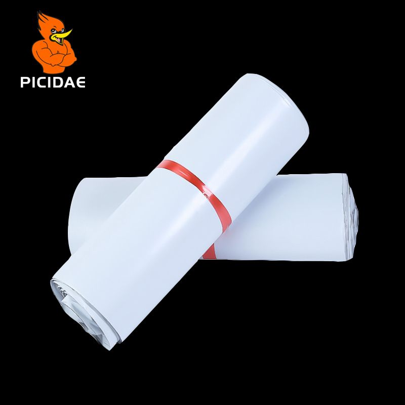 Emballage postal Poly colis postal expédition en plastique sac postal par enveloppe courrier blanc en gros en vrac fournitures auto-adhésives