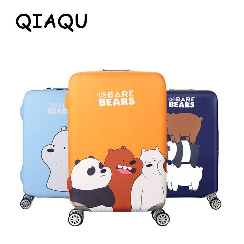 Qifairy mode dessin animé ours motif voyage étanche 18 ''-32'' couverture de bagages Portable élastique extensible protecteur couvercle de valise
