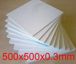 500mm panjang 500mm lebar 0.3mm ketebalan Teflon piring, 500x500x0.3mm lembar PTFE, empat fluor papan
