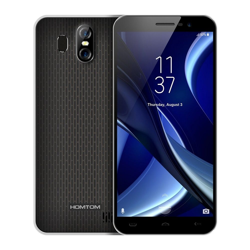HOMTOM S16 5.5'' 18:9 Edge-Less Display 3G Smartphone Android 7.0 MTK6580 Quad Core 2GB 16GB Mobile Phone 13MP+8MP Cams 3000mAh