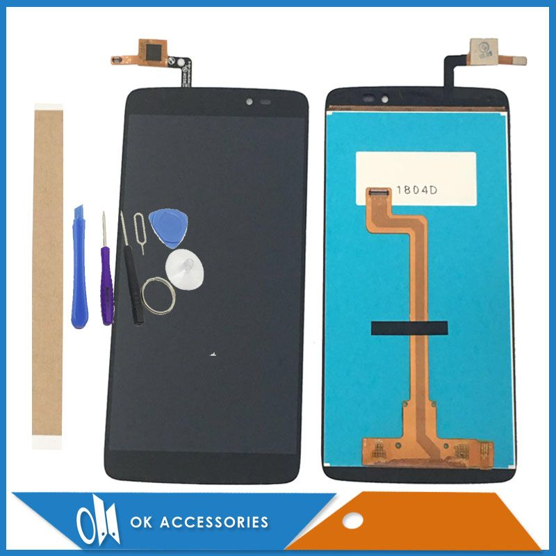 Black Color 5.5 Inches For Alcatel One Touch Idol 3 OT6045 6045 6045Y 6045F LCD Display+Touch Screen With Tools <font><b>Tape</b></font>