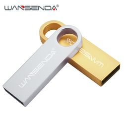 Wansenda USB flash drive metal pen drive 64 GB 32 GB 16 GB 8 GB 4 GB mini pendrive USB 2.0 de memoria USB flash drive
