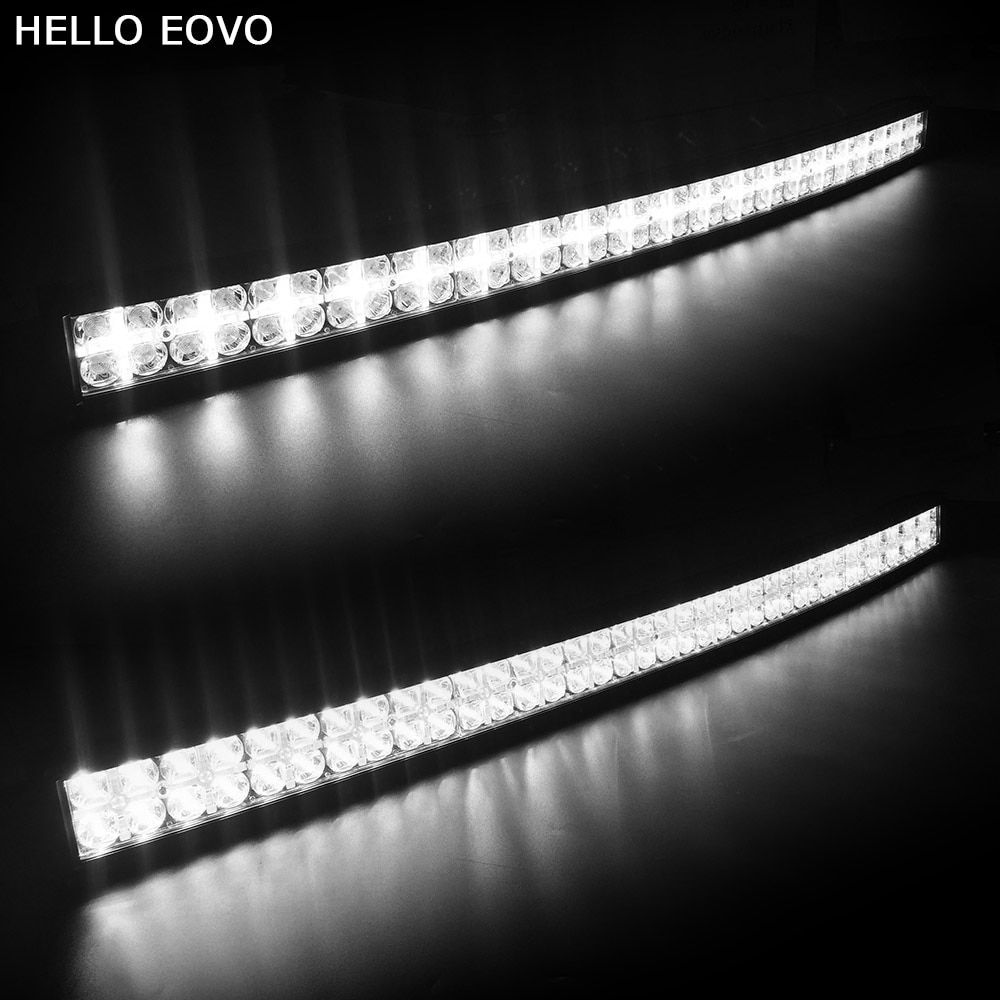 HELLO EOVO 7D Curved 42 inch 400W with DRL LED Work Light Bar for Tractor Boat OffRoad 4WD 4x4 Truck SUV ATV Combo Beam 12V 24v