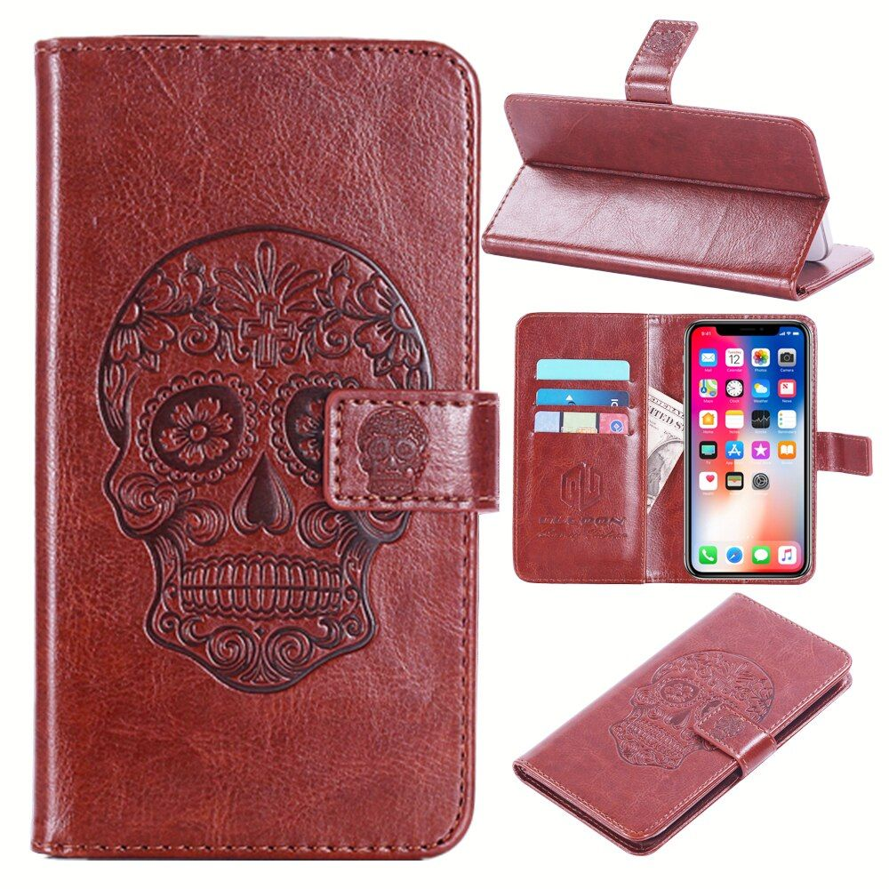 GUCOON Embossed Skull Wolf Case for Wileyfox Swift 5.0inch Vintage Protective Phone Shell Fashion Cool Cover Bag