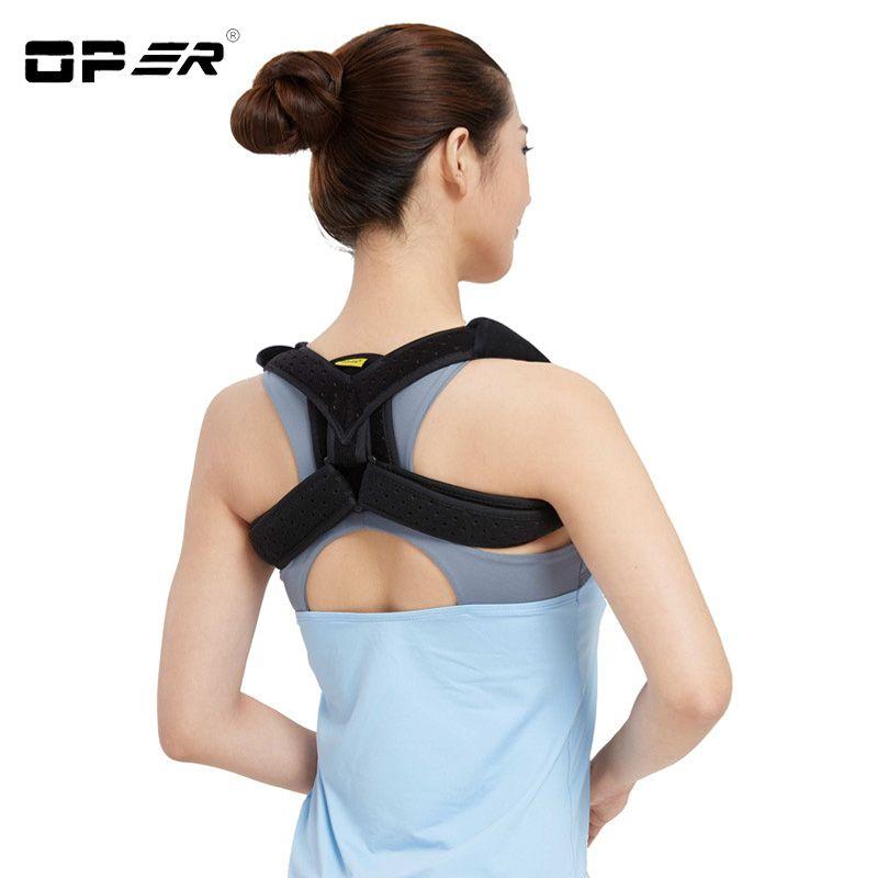OPER hombro apoyo vendaje cinturón clavícula postura brace hombro postura corsé ajustable mujeres negro/beige