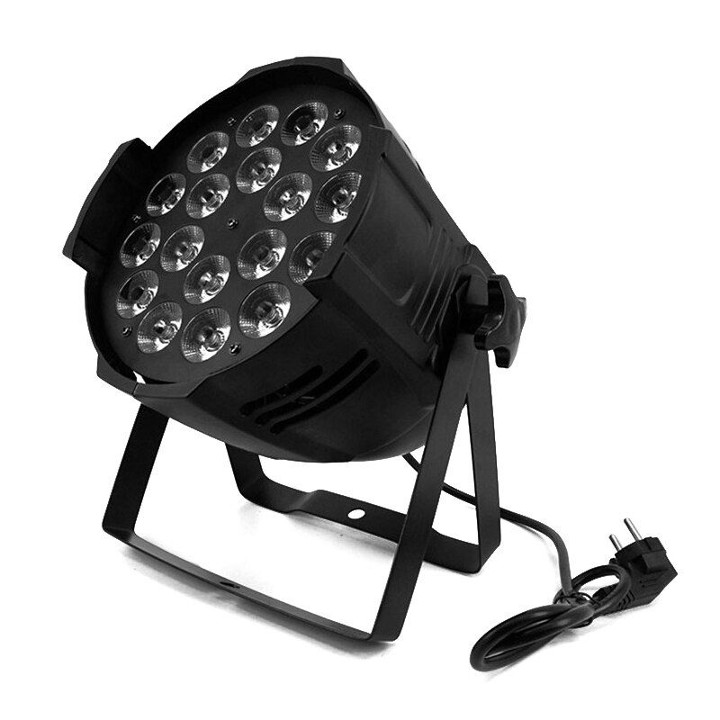 Aluminum Alloy LED Par 18x18W RGBWA+UV 6in1 LED Par Can Par Led Spotlight DJ Projector Wash Lighting Stage Lighting