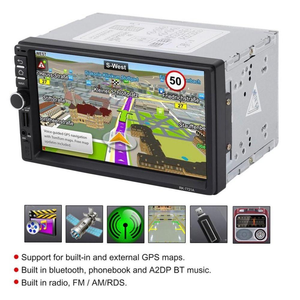 Auto DVD mit Amerika Karte RK-7721A Professionelle 7 Zoll HD 1024*600 Kapazitiven Bildschirm 7 Bunte Lichter Funktion Heißer freies Verschiffen