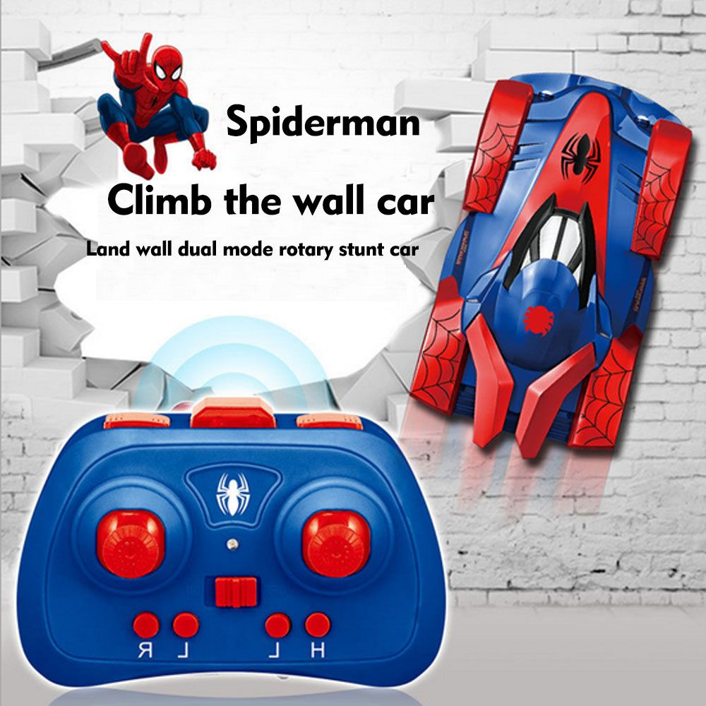 Climb the wall car Super Spiderman Racing Car Speed Radio Remote Control Sports Rc Car Motor Xmas Gift Kid toy Free Shipping