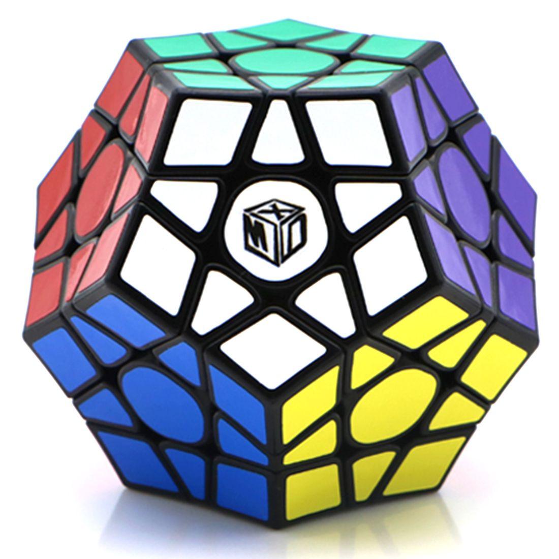 Qiyi Galaxy V2 Megaminx Magic Cube Логические головоломки игрушки (вогнутая Тип)-черный-база