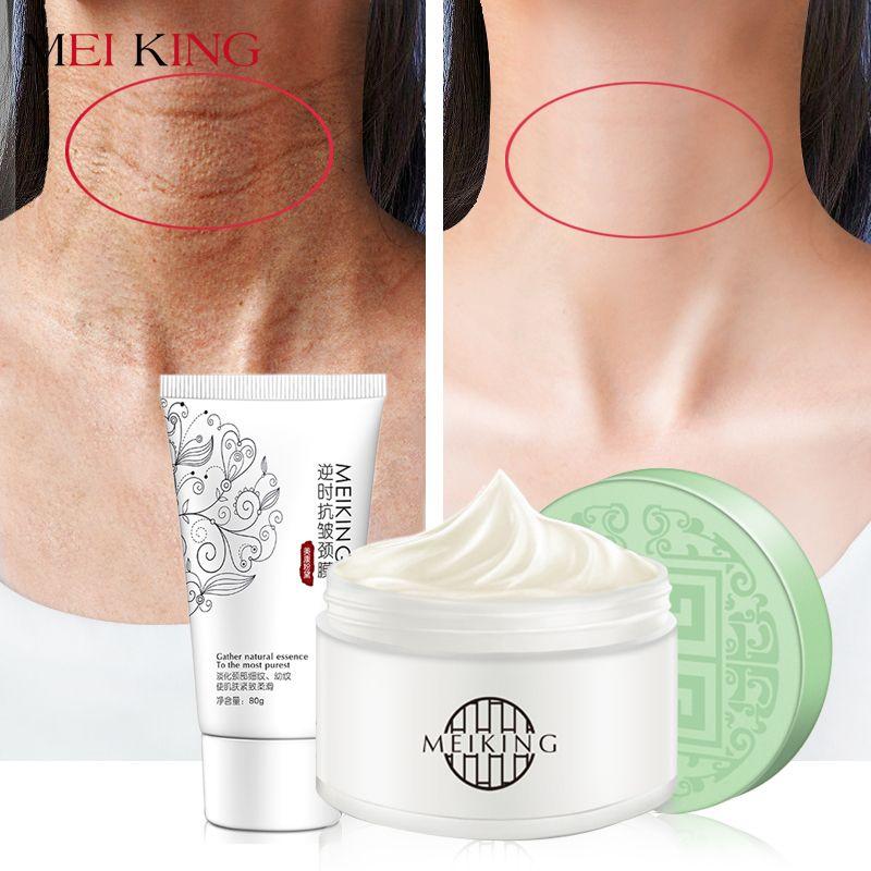 MEIKING masque pour le cou crème pour le cou soins de la peau Anti-rides blanchissant hydratant nourrissant raffermissant cou soin ensemble de soins de la peau 180g