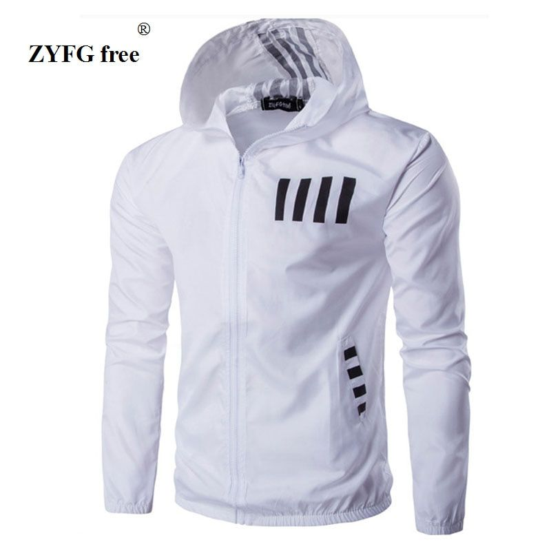 Four seasons men's Sweatshirt Casual Tops Outwear 2017 new style Men Jackets Hooded Coat striped Windbreaker Clothing Stylish