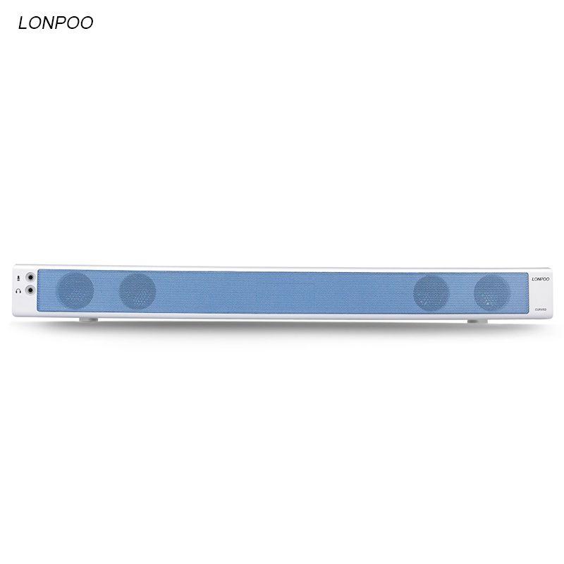 LONPOO haut-parleur Portable USB Surround TV barre de son Subwoofer Home cinéma Support AUX téléphones PC TV ordinateur Portable bureau