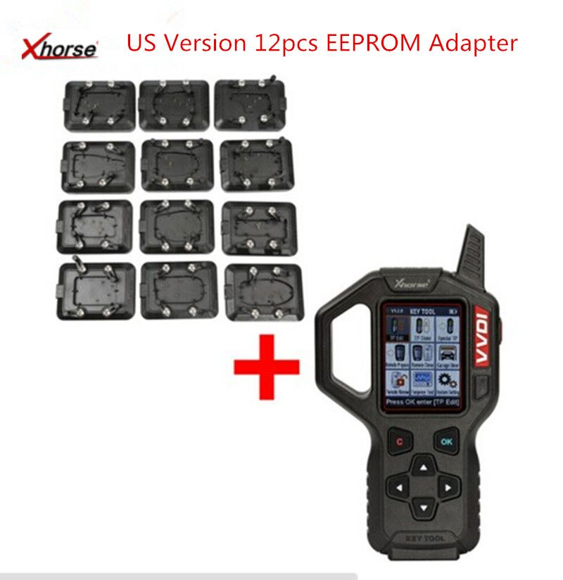 Original V2.3.9 Xhorse VVDI Key Tool Remote Key Programmer Specially for America cars  With Full Set 12pcs EEPROM Adapter