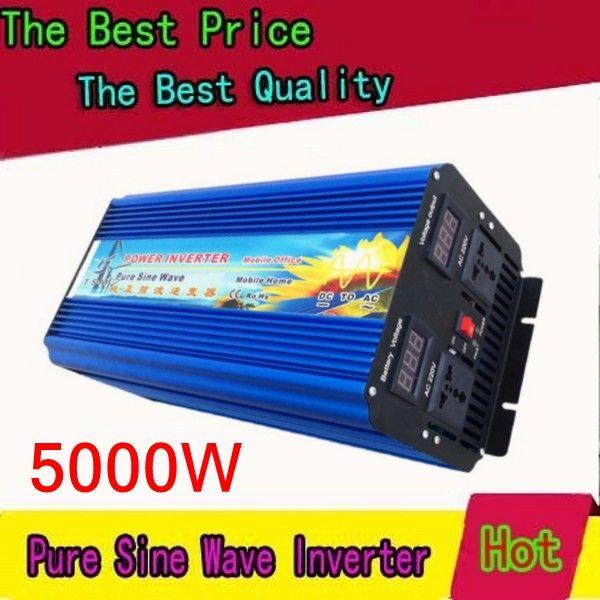 Hohe qualität, 5KW dc 12v zu ac 240v reine sinus welle inverter 5000W spitzen 10000w inversor de onda sinusförmige pura